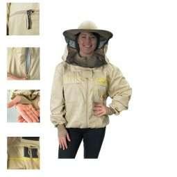 Giacca apicoltore con cappello apertura a cerniera mod. Premium Lyson