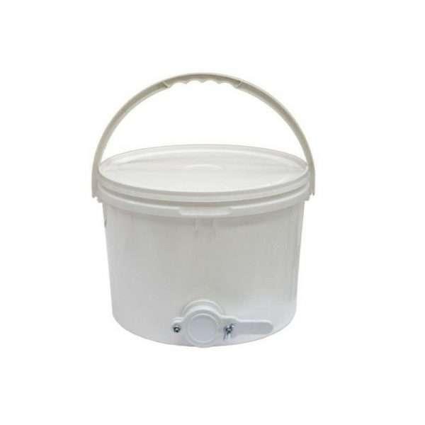 Secchio in polipropilene per miele da 10L - 15kg con valvola