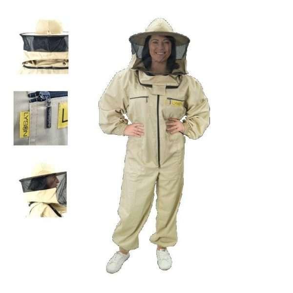 Tuta apicoltore con cappello tondo mod. CLASSIC