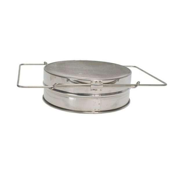 Filtro piatto singolo 20,5 cm inox per filtraggio miele