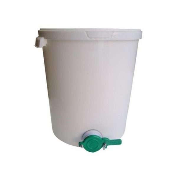 Secchio in polipropilene per miele da 31,5L - 44Kg con valvola