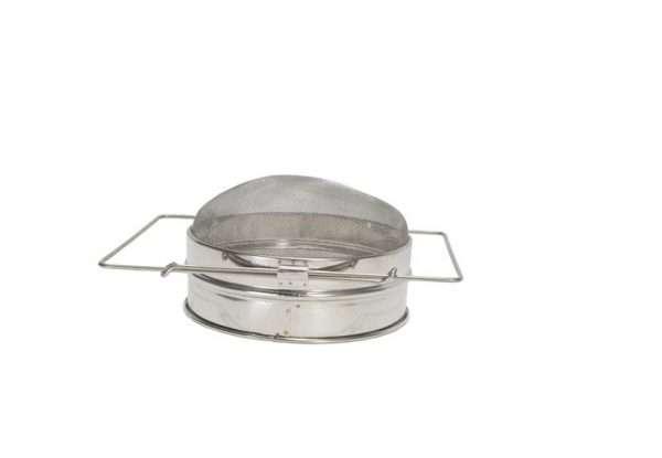 Filtro convesso singolo 20,5 cm inox per filtraggio miele