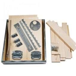 Arnia 10 favi cubo kit lamellare completa di ferramenta e viti, fondo antivarroa