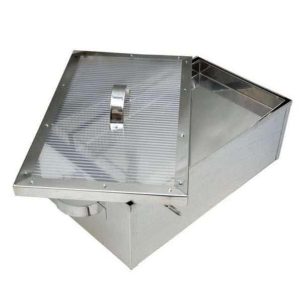 Sceratrice solare inox con supporto in metallo 39x63xh22 Lyson