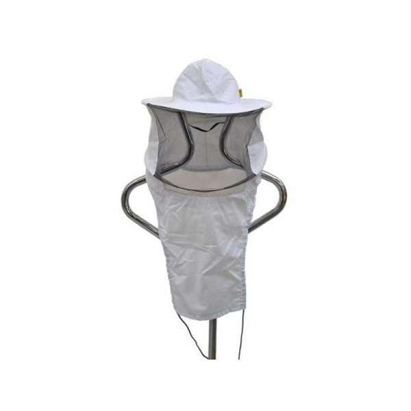 Cappello ascellare apicoltore tondo bianco