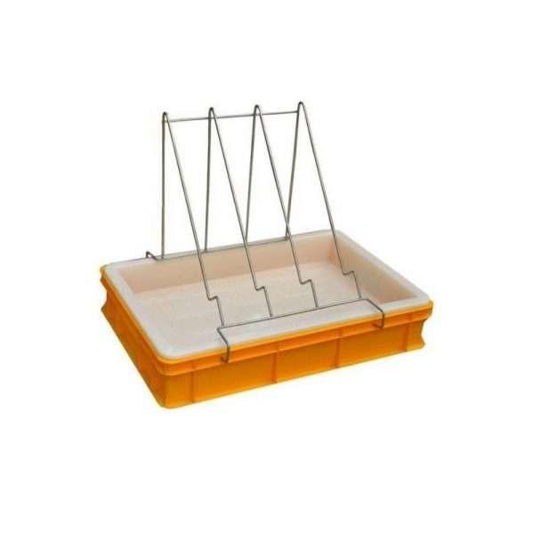 Banco per disopercolare in plastica, altezza 10 cm, con leggio e vassoio in plastica alimentare