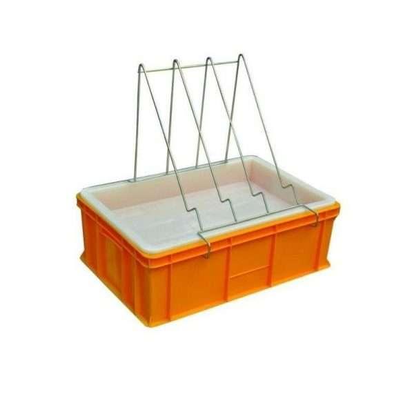 Banco per disopercolare in plastica, altezza 20 cm, con leggio e vassoio in plastica alimentare