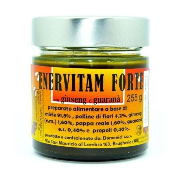 Enervitam Forte Composto di miele italiano, polline, pappa reale, propoli, ginseng e guaranà 255g