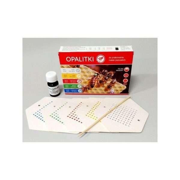 Kit marcatura regine 500 pz, con numerazione da 1 a 100, colla e 5 colori