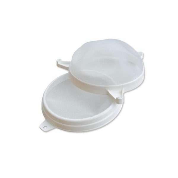 Filtro convesso doppio 25 cm in plastica per filtraggio miele