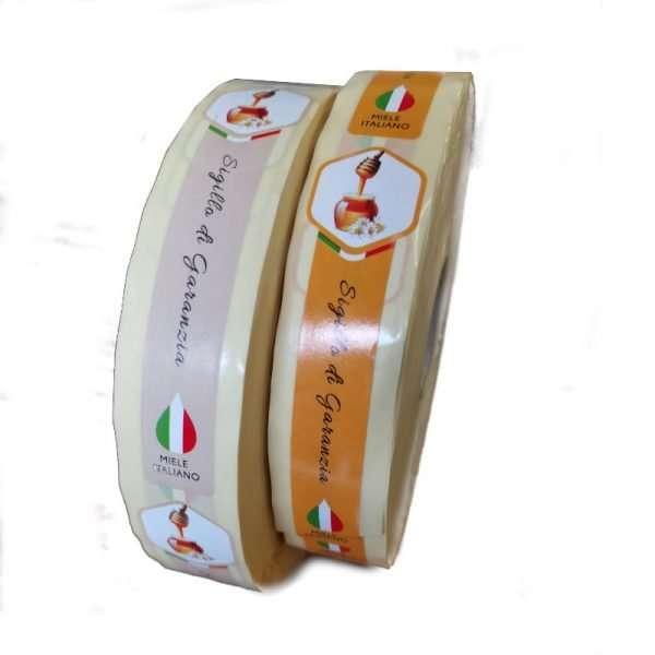 Sigillo di garanzia miele italiano 1000pz 2 varianti
