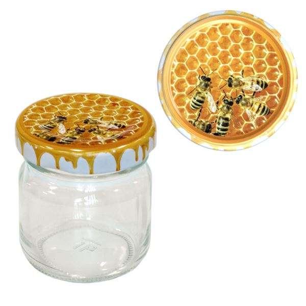 Vaso 50g, modello tondo, compreso capsula modello api new, conf. 30 pezzi