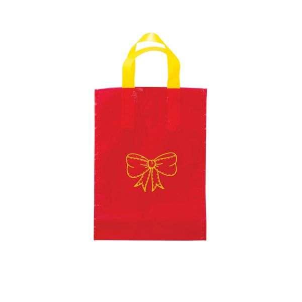 Busta regalo rossa, fantasia fiocchetto regaloconfezione 25 pezzi, 17*24cm