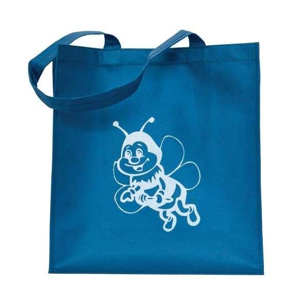 Borsa miele ecologica blu, disegno ape