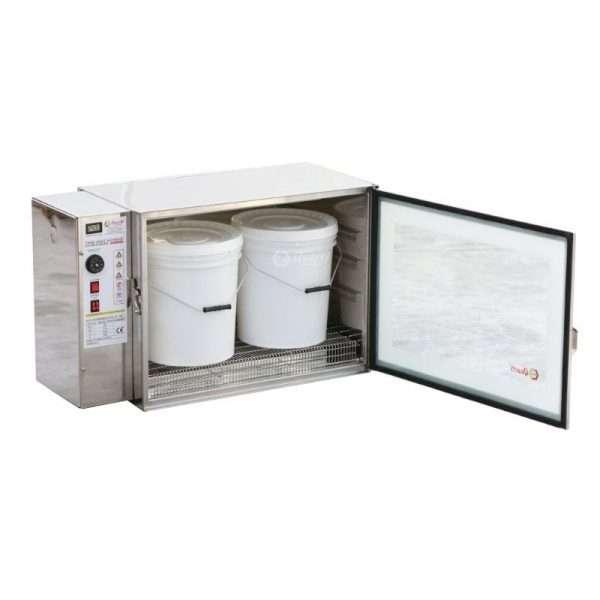 Fondi miele ad aria calda, 1+1 Kw, 220V, 2 secchi da 25kg o 40 vasi da kg