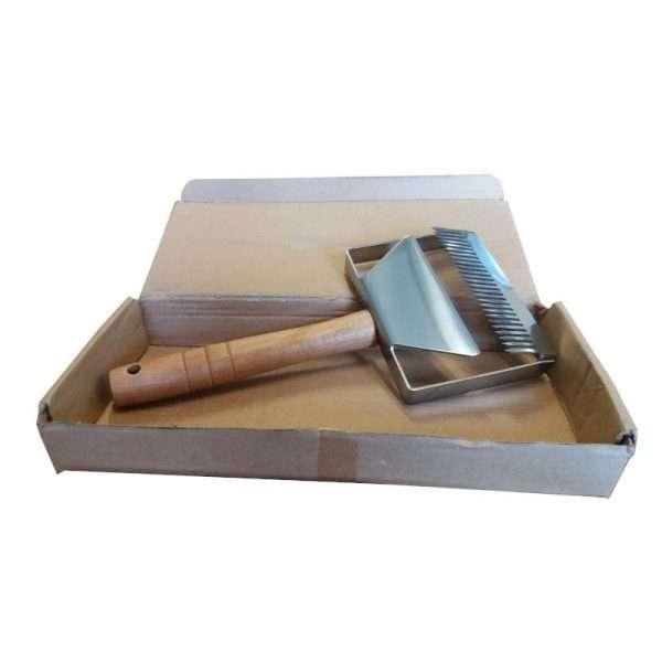 Forchetta doppia per disopercolare manico di legno modello grande