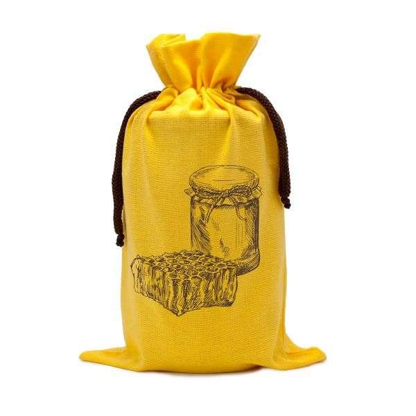 Sacchetto in cotone da regalo per vaso miele 1Kg TE5m - 2 colori