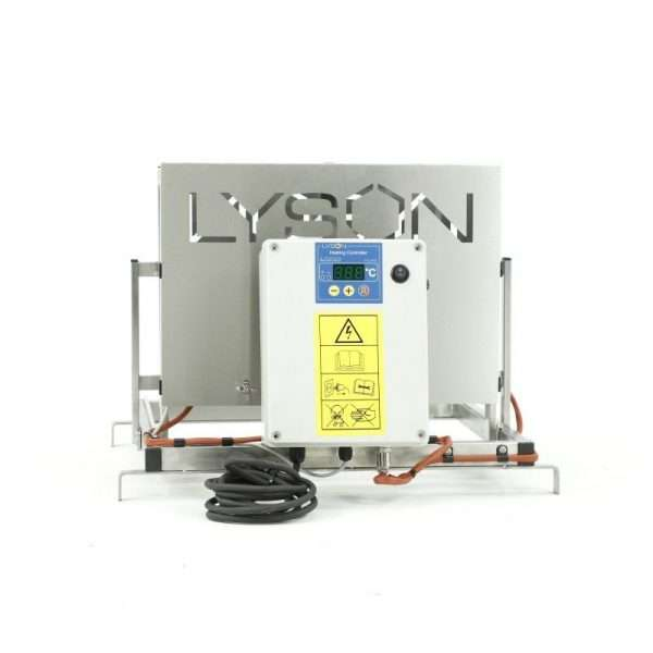 Disopercolatrice verticale, manuale riscaldata inox, rinforzata (da banco 75mm) da 220V da 30° a 95°