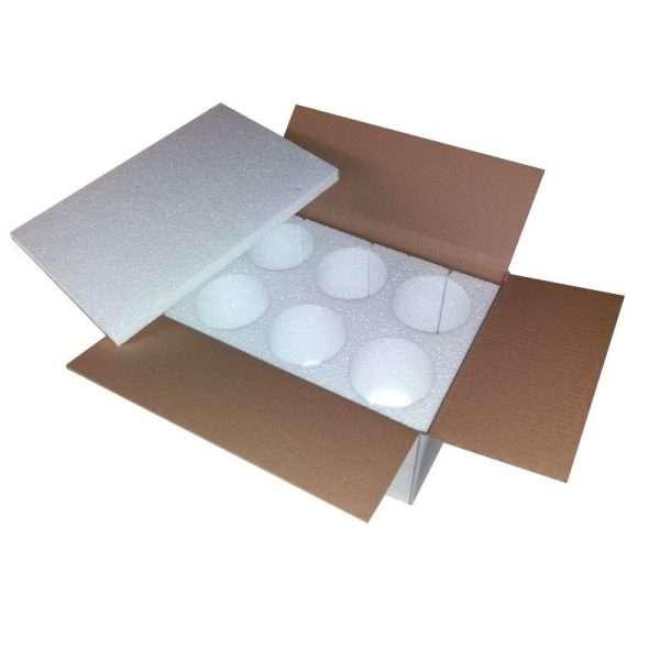 Scatola polistirolo trasporto vasi miele 6x500g