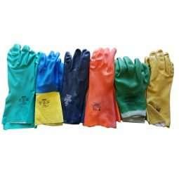 Guanti apicoltore clorinati in neoprene, nitrile, lattice, doppio spessore con felpatura interna, vari colori