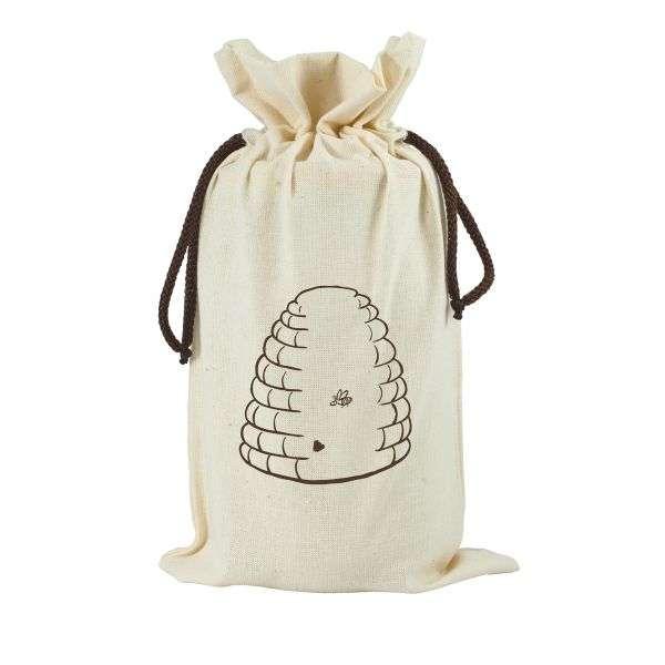 Sacchetto in cotone da regalo per vaso miele 1Kg TE5b - 2 colori