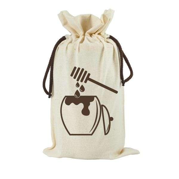 Sacchetto in cotone da regalo per vaso miele 1Kg TE5g - 2 colori