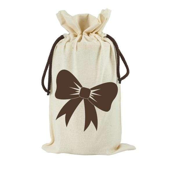 Sacchetto in cotone da regalo per vaso miele 1Kg TE5h - 2 colori