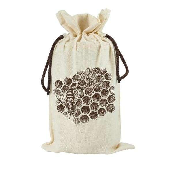 Sacchetto in cotone da regalo per vaso miele 1Kg TE5j - 2 colori