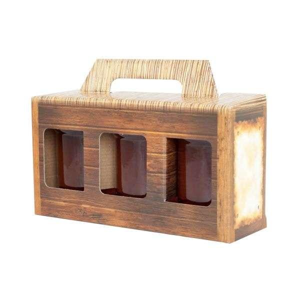 Scatola regalo miele per 3 vasi da 250g, P2G