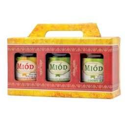 Scatola regalo miele per 3 vasi da 250g,  P2I