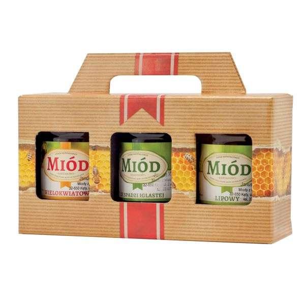 Scatola regalo miele per 3 vasi da 250g, P2H