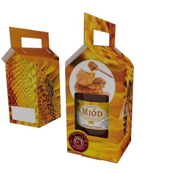 Scatola regalo miele per 1 vaso da 1000g, P1F