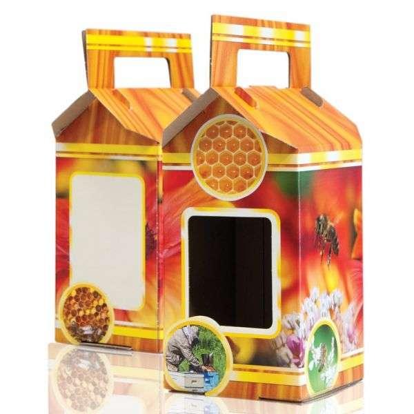Scatola regalo miele per 1 vaso da 1000g, P1B