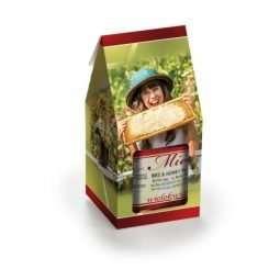 Busta regalo gialla,fantasia esagoni di favo, confezione 25 pz, 26*24cm TP5B