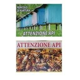 Tabella, Attenzione Api, cartello di PVC 430x5x300mm, 2 varianti