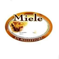 Etichetta adesiva miele millefiori generica  92x60mm 100pz