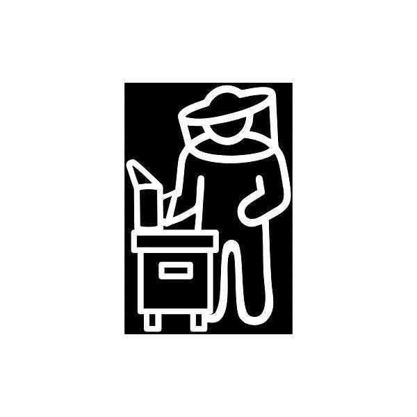 Adesivo Apicoltore a Lavoro 3 varianti