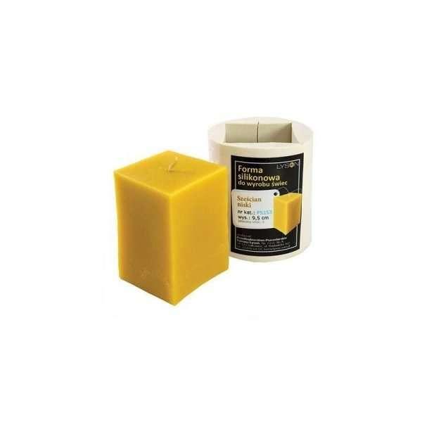 Stampo per candele in silicone - CUBO BASSO