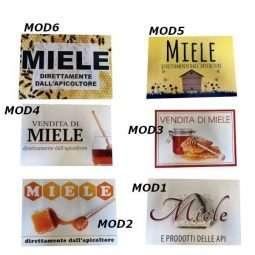 Tabella, Vendita di Miele, cartello di PVC 430x5x300mm, in 6 varianti