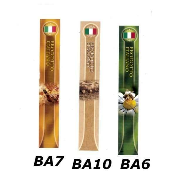 Sigillo di garanzia Miele italiano 22x142mm 100pz 3 varianti
