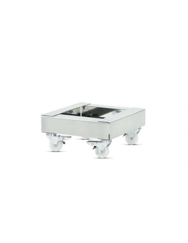 Carrello per trasporto maturatori in acciaio inox - 400mm