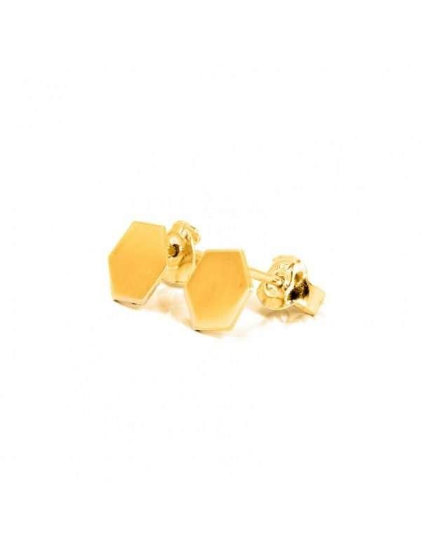 Orecchini esagono in argento dorato 925 - BL_K05