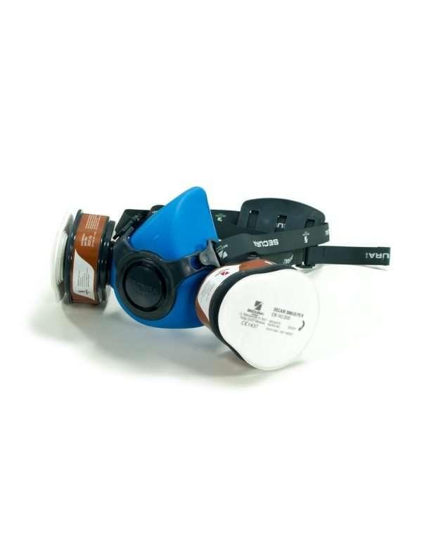 Semimaschera protettiva con filtri A2P3