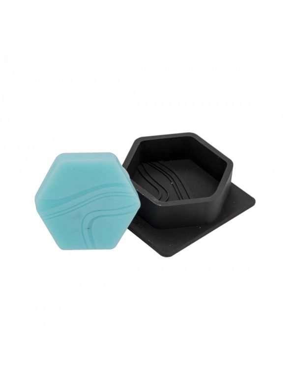 Stampo in silicone per 1 Sapone esagonal con motivo onda