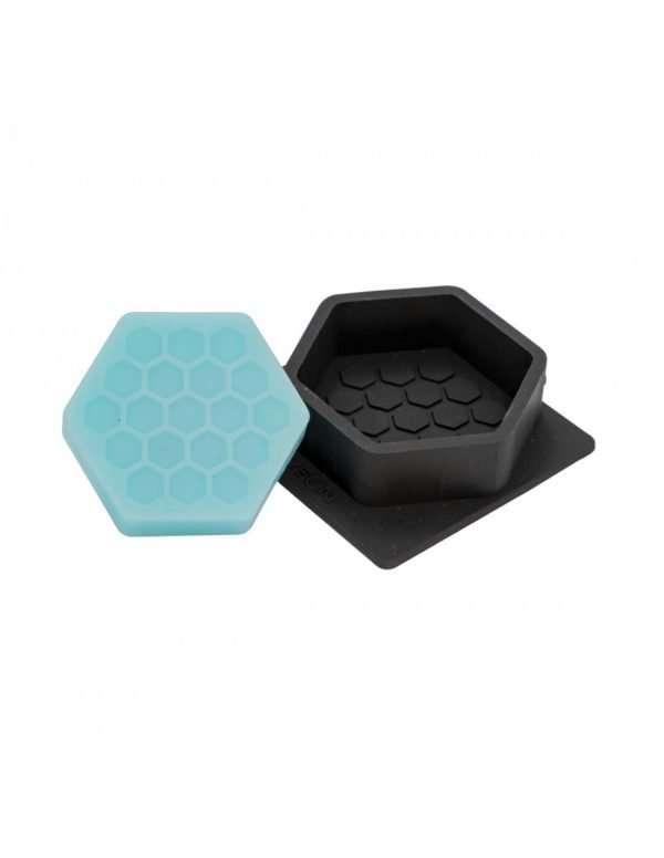 Stampo in silicone per 1 Sapone esagonale con motivo esagoni
