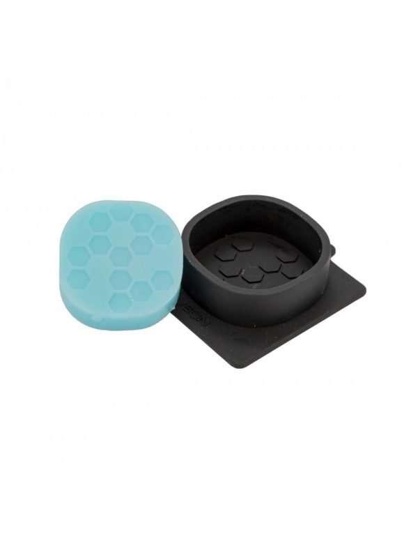 Stampo in silicone per 1 Sapone tondo con esagoni
