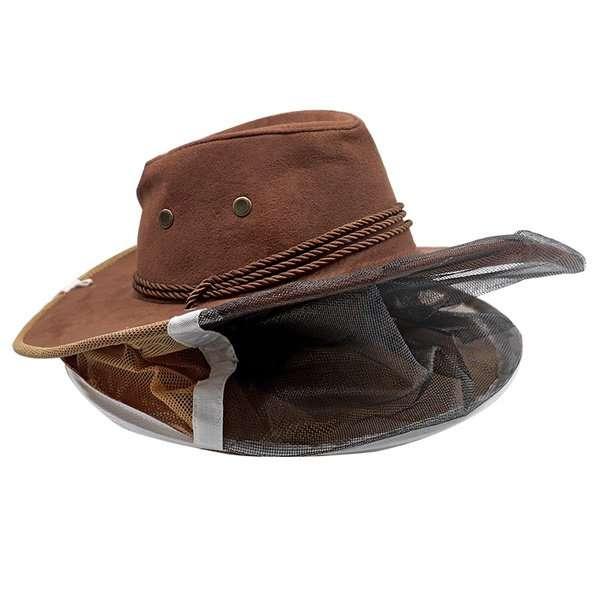 Cappello ascellare con rete per apicoltore mod. cowboy