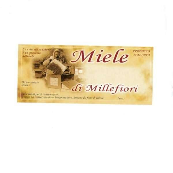 Etichetta adesiva miele millefiori generica 116x50mm 100pz