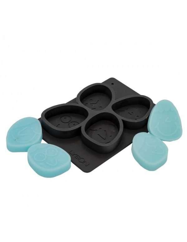 Stampo in silicone per 4 Saponi con faccina