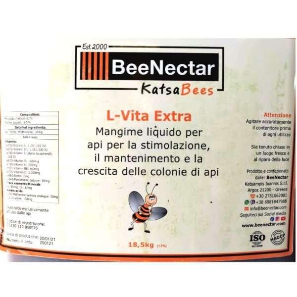 Sciroppo BeeNectar L-Vita Extra, 18,5Kg alta concentrazione per stimolazione covata